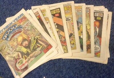 20 X Editions Of 2000AD Featuring Judge Dread 1986