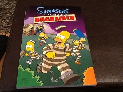 The Simpsons Comics UNCHAINED  2001 Paperback Book 173 pages