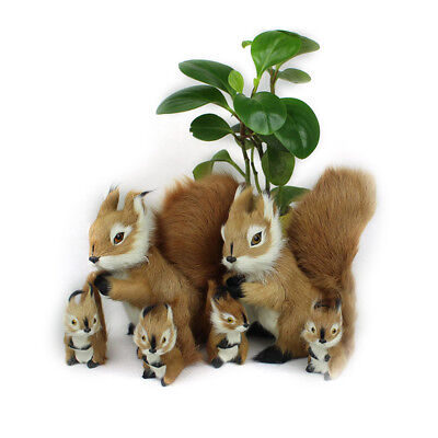 Simulation Animal Squirrel Kids Stuffed Sheepskin Doll Plush Toy Home Decoration