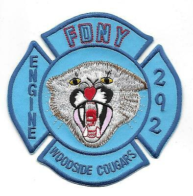 US FDNY NEW YORK WOODSIDE COUGARS FEUERWEHR  Aufnäher Patch Fire