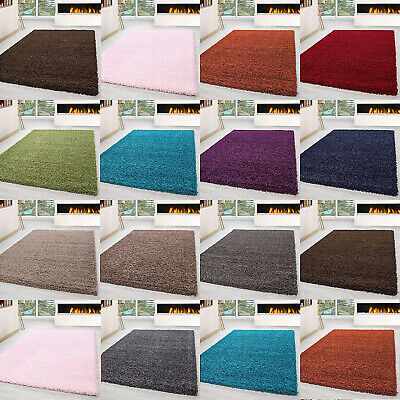 Large X Small Soft Plain Shaggy Rugs Modern  Floor Bedroom 5Cm Thick Carpet New