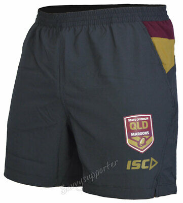 Queensland Maroons State of Origin 2018 NRL Carbon Training Shorts Sizes S-5XL