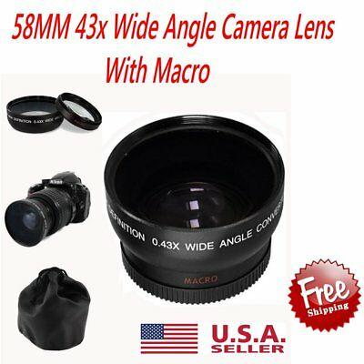 WIDE ANGLE LENS Fisheye FOR CANON EOS REBEL 1100D 1000D T3i 600D 7D 350D XSi MS