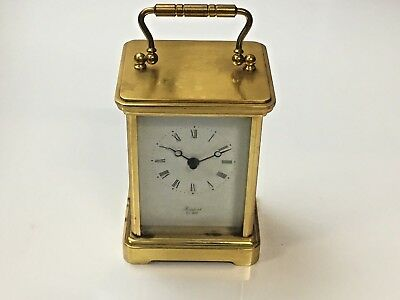 Heavy Vintage Rapport Brass Carriage Clock