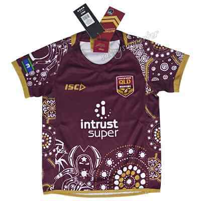 QLD Maroons State of Origin 2018 NRL Kids Indigenous Jersey Sizes 6-14 BNWT