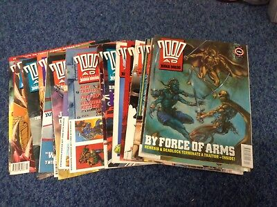 20 X Issues Of 2000AD Featuring Judge Dredd 1991