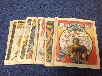 20 X Issues Of Comic 2000AD Featuring Judge Dredd 1986-87