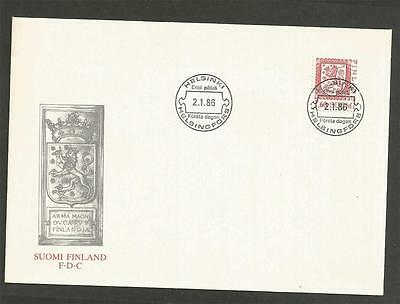 FINLAND -1986 Lion  - FIRST DAY COVER.