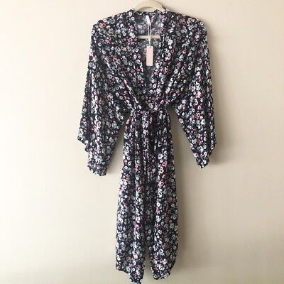 Pink Blush Floral Maternity Delivery Kimono Robe Postpartum Clothing for New Mom