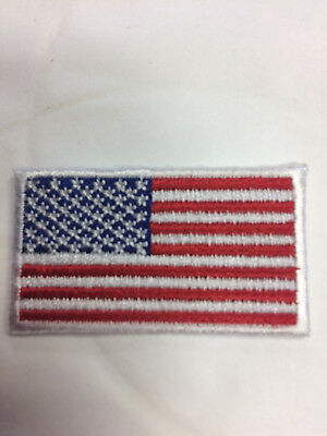 USA red, white, blue small patch 1-3/4 x 1 embroidered sold in quantities of 4