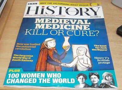 BBC History magazine Sep 2018 Medieval Medicine Kill or Cure + Jack the Ripper