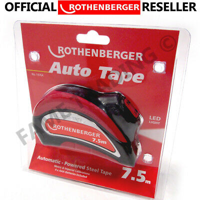 Rothenberger Automatic Powered Steel 7.5 M Tape Measure Metric / Imp 19764