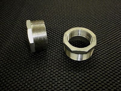 """STAINLESS STEEL BUSHING REDUCER 2"""" x 1 1/2"""" NPT PIPE BS-200-150"""