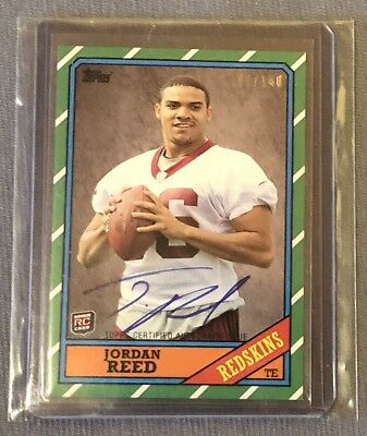 2013 Topps Jordan Reed RC rookie auto autograph Redskins 109/140