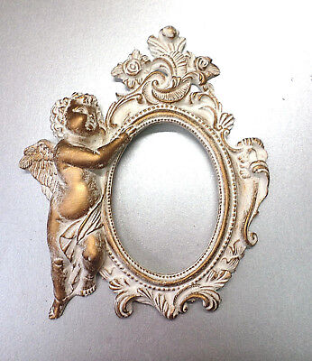 Frames Guardian angel Mini Decor White Gold Patina Classic, Worldwide Delivery