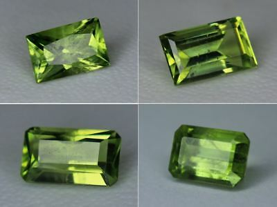 Natural Peridot Gemstone Loose Octagon Rectangle Best Pakistan Green Many Sizes