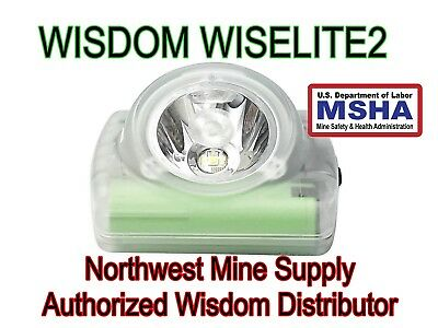 Wisdom Wiselite2 MSHA CERTIFIED cordless cap light lamp