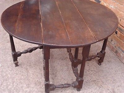 Antique 19th Century Round Drop leaf Gate leg Table Delivery available