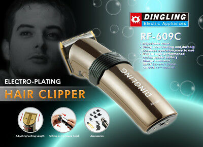 DINGLING RF-609C Rechargeable Electric Hair Clipper Cut Kit/Hairdressing Trimmer
