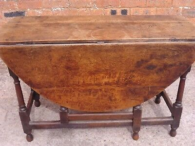 Antique 19th Century Oak Drop leaf Gate leg Oval table Delivery available.