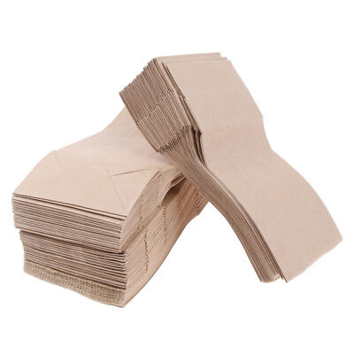 100 Pcs Kraft Paper Food Packing Bag Grease Resistant Takeout 9x5.5x18cm