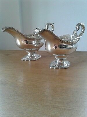 Superb Quality Pair Of Solid Sterling Silver Gravy Boats London 1765 By William