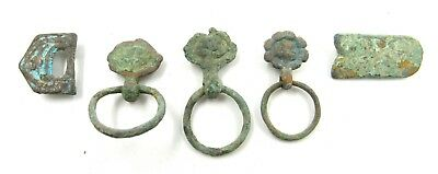 Authentic Lot Of Medieval Bronze Belt Buckles & Fittings  - E955