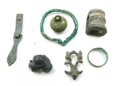 Authentic Lot Of Medieval Viking Bronze Items  - E956