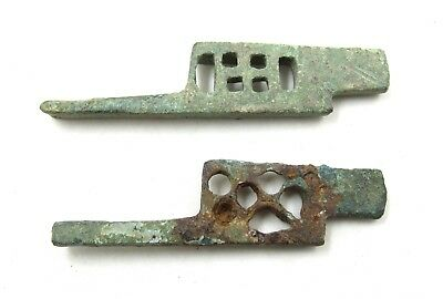 Authentic Ancient Roman Bronze Pair Of Padlocks - E958