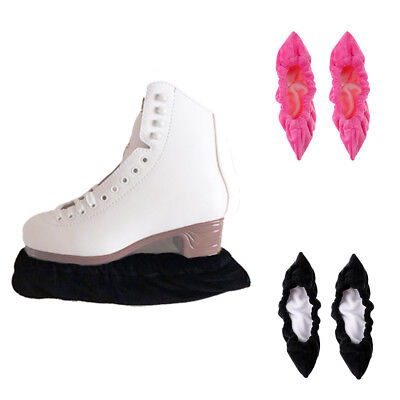 2 Pairs Ice Figure/Hockey Skate Blade Guards one size fits all, Black & Pink