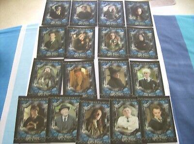 "Harry Potter And The Prisoner Of Azkaban-""17"" X Foil Set Of Trading Cards."