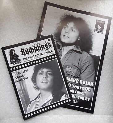 MARC BOLAN - TWO ISSUES OF RUMBLINGS MAG FROM LATE 90's.LOTS OF GOOD ARTICLES