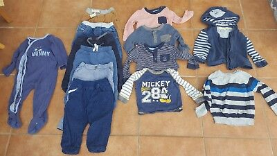 Bundle 9-12month Baby BOY.Winter Clothes.Trousers,Tops, Jumper, Hoody, Sleepsuit