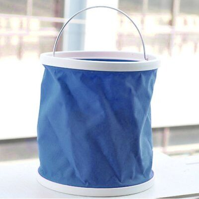 Folding Collapsible Bucket Barrel Water Container Car Washing Outdoor Use blue,
