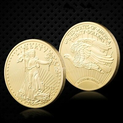 Gold Souvenir Coin 1933 US Eagle Liberty Freedom In God We Trust Gold Coin
