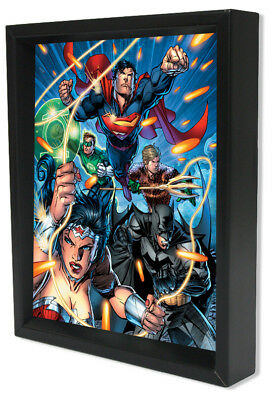Pyramid America DC – Justice League – Attack (Framed Art - Shadow Box)