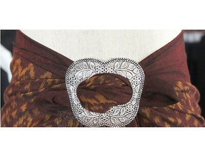 COCONUT Shell Sarong Buckle Scarf  Tie Clip Slide Wedding  Party Prom Beach