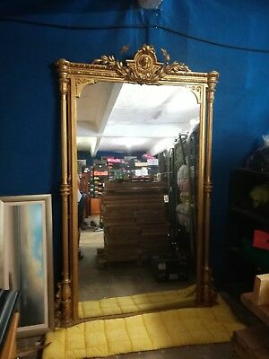 Victorian extra large hall overmantel mirror