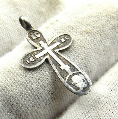 Authentic Post Medieval Silver Cross Pendant W/ Makers Mark - Wearable - E981