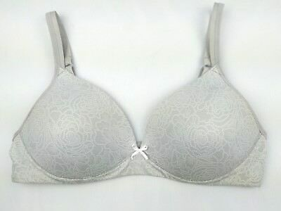 79300a7c5d6a8 Warners Womens Gray Size 34B Bra Elements of Bliss Full Coverage Wire Free  01298