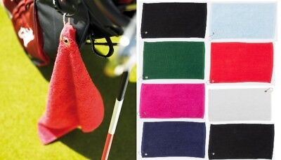 Golf Towel Luxury Range Golf Towel Metal Grommet & Hook TC013