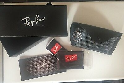Ray Ban Tech Carbon Fiber Case Storage Box for Sunglasses