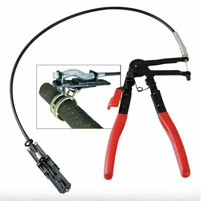 """Flexible Wire 24""""Long Reach Hose Clamp Pliers Wire Shaft Fuel Oil Water Tool"""