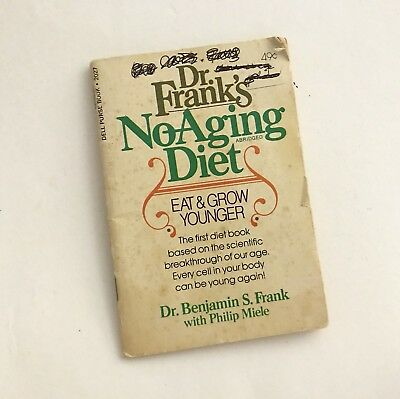Vintage! 1977 DELL PURSE BOOK - Dr. Frank's No Aging Diet-Eat & Grow Younger