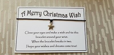 Wholesale * Bulk * Job Lot * A Merry Christmas Wish Bracelet * Stocking Filler *