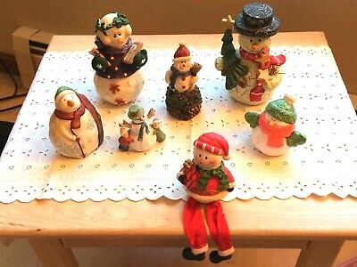 Snowman Figurine Collection Shelf Sitter-Ring Box-Variety Of Sizes