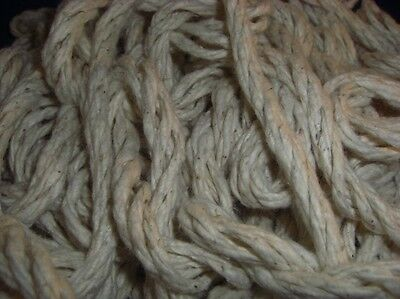 """1/4"""" Super Cotton Rope (25-250 ft) 100% ALL NATURAL DIY Bird Toy Part Craft"""