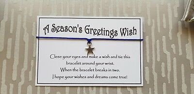 Wholesale * Bulk * Job Lot * A Season's Greeting Wish Bracelet * Stocking *Gift