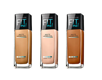 Maybelline Fit Me Matte + Poreless Liquid Foundation 1 fl oz - Choose Any Shade