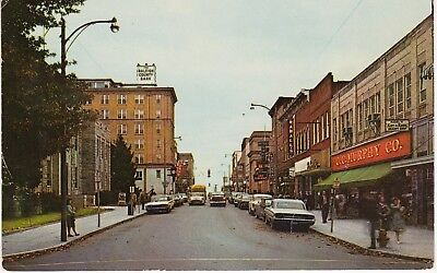 Beckley, West Virginia, Main Street, postcard from 1962      F